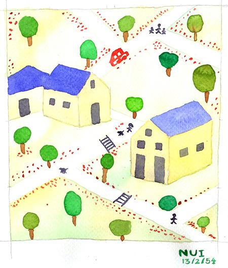คอร์สเรียนวาดภาพสีน้ำ ที่วาดสตูดิโอ ผลงานคุณหนุ่ย 01