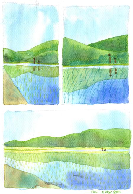 คอร์สเรียนวาดภาพสีน้ำ คุณนิน03 ที่วาดสตูดิโอ
