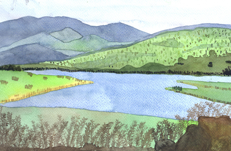 คอร์สเรียนวาดภาพสีน้ำ ที่วาดสตูดิโอ ผลงานคุณหนุ่ย 08