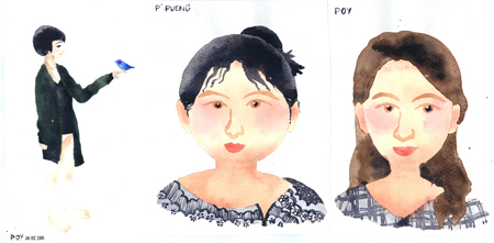 คอร์สเรียนวาดภาพสีน้ำ ที่วาดสตูดิโอ ผลงานคุณปอย 02